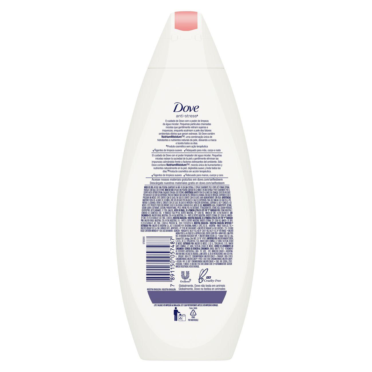 Sabonete Liquido Dove Micelar Anti Stress 250mL