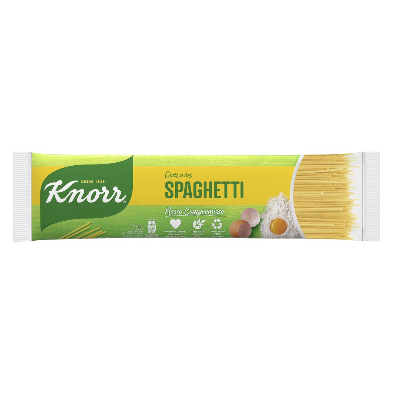 Macarrão Spaghetti Knorr Sêmola Com Ovos 500g