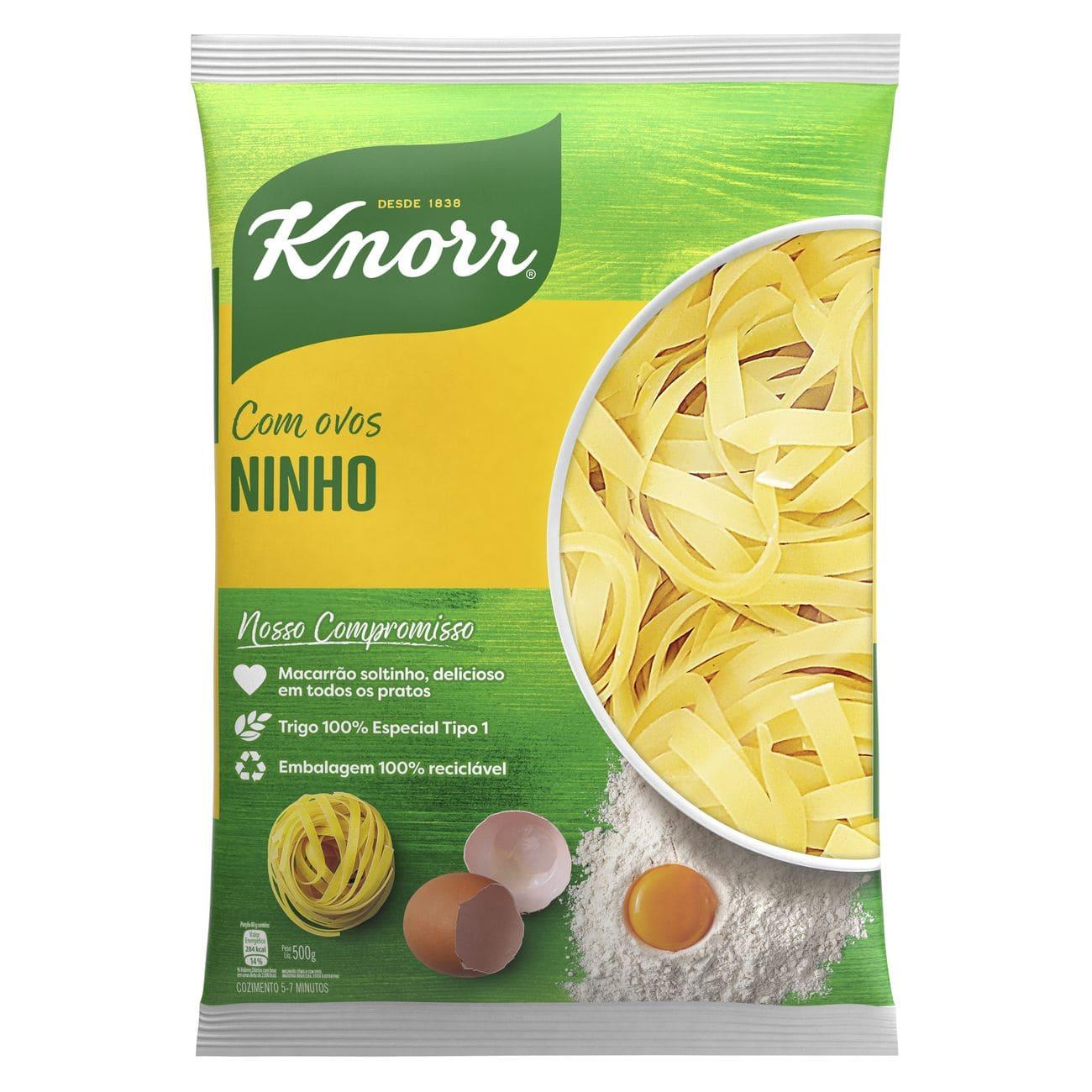 Macarrão Ninho Knorr Sêmola Com Ovos 500g
