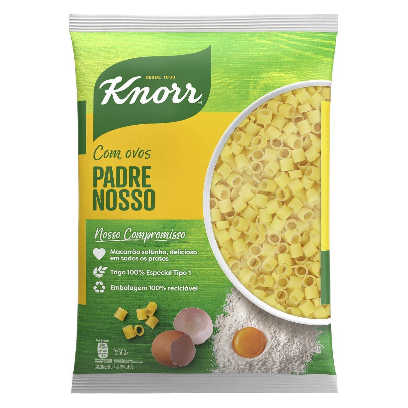Macarrão Padre Nosso Knorr Sêmola Com Ovos 500g