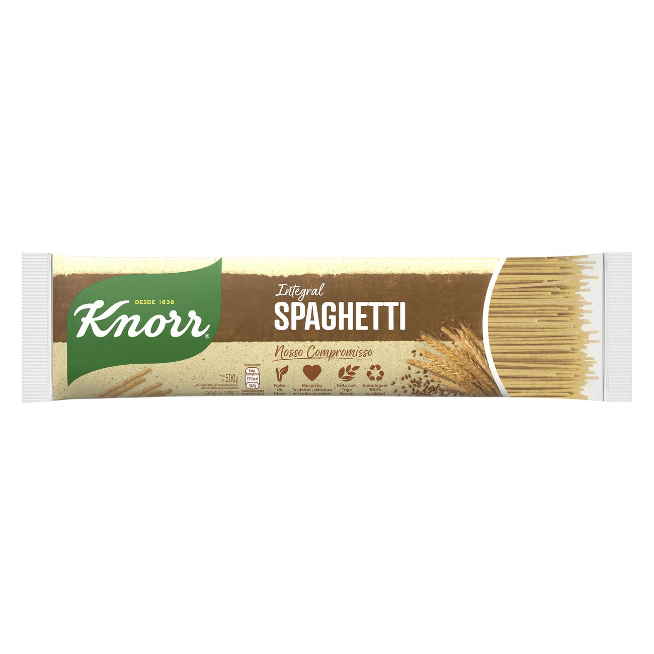 Macarrão Spaghetti Knorr Integral 500g