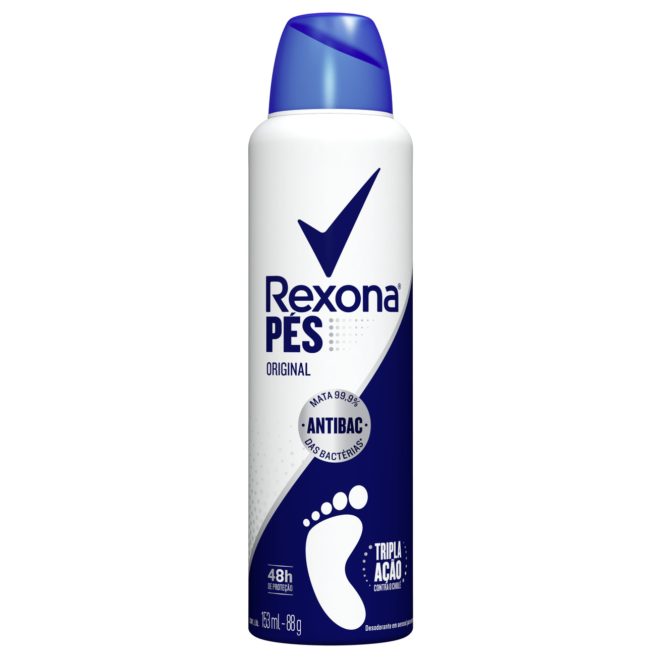 Desodorante Aerosol Para Pés Rexona Original 48h 153mL