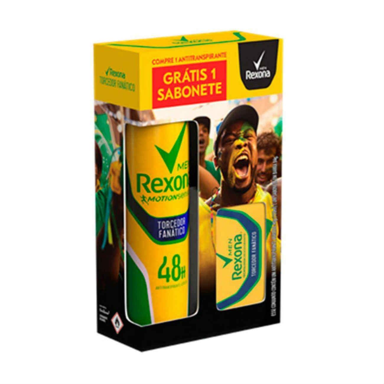 Oferta Rexona Sabonete 84g + Desodorante Torcedor Fanático 150ml