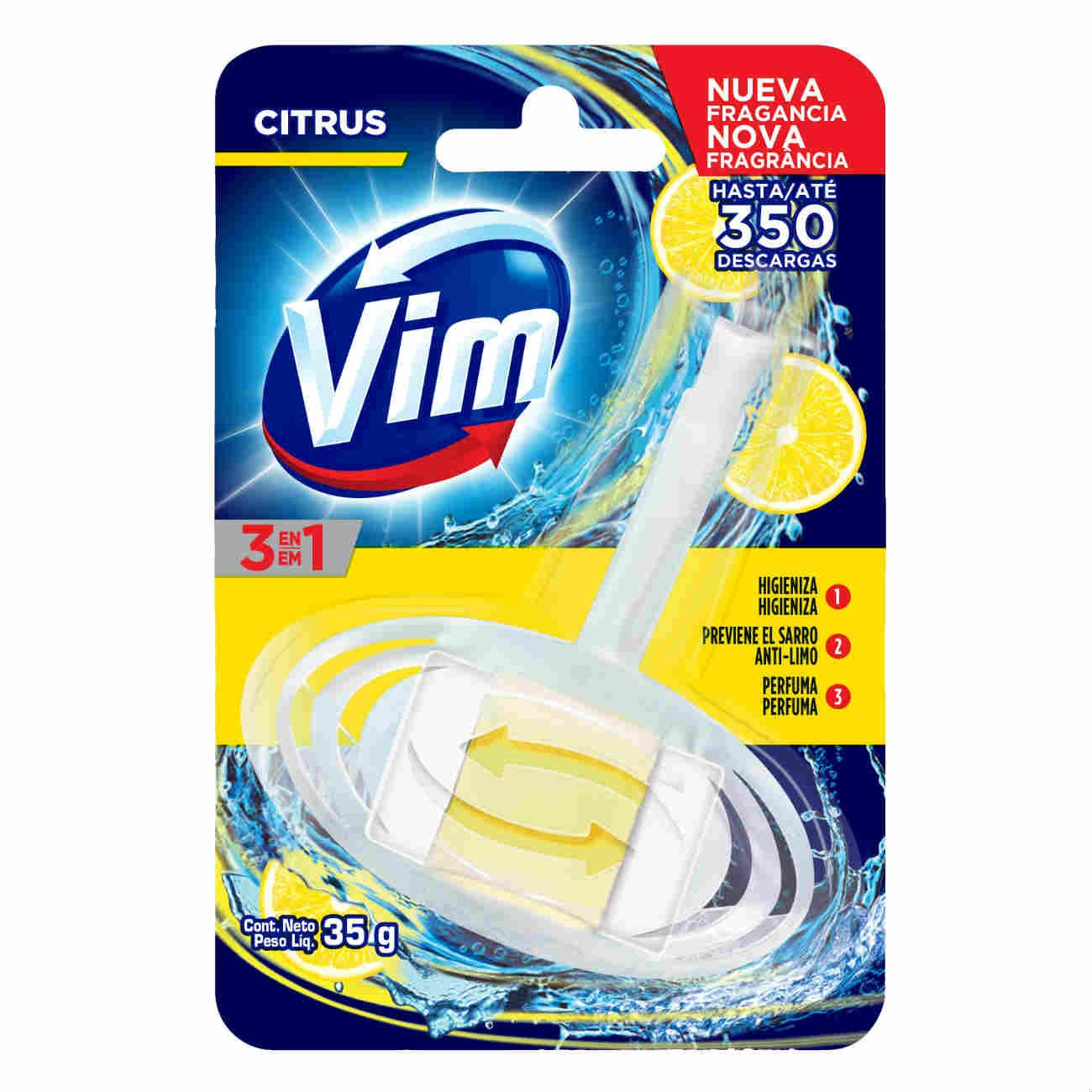 Bloco Sanitário VIM 3 em 1 Citrus 35g