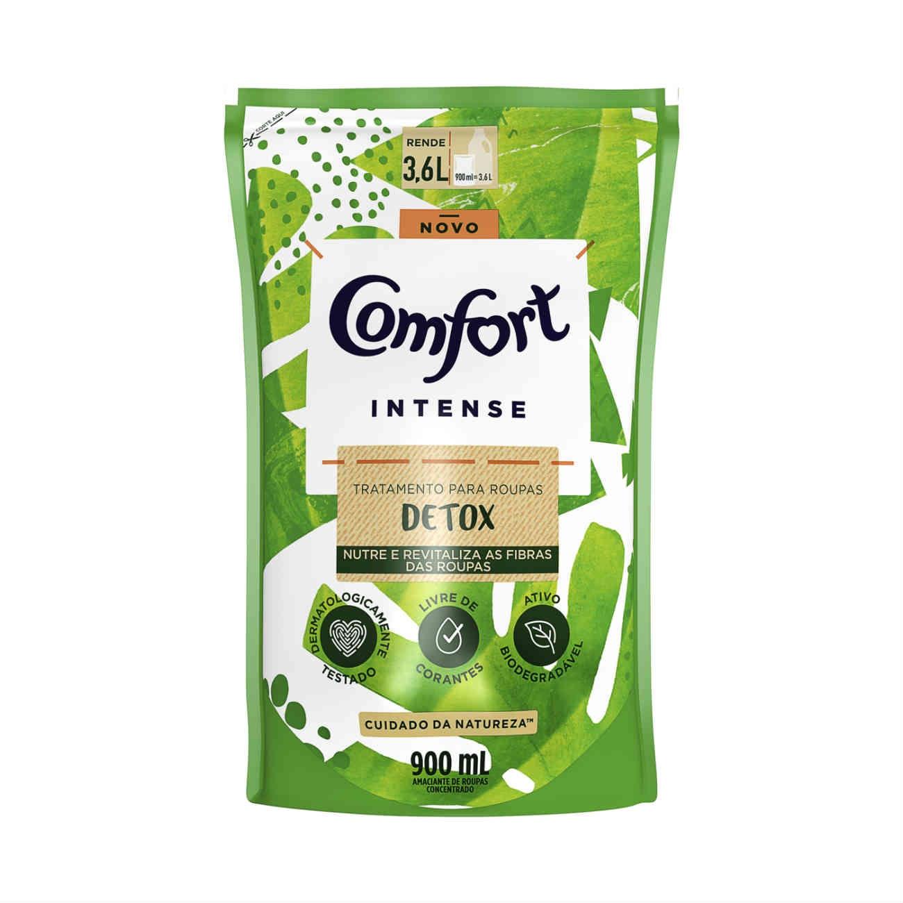 Amaciante Concentrado Comfort Intense Detox Refil 900ml