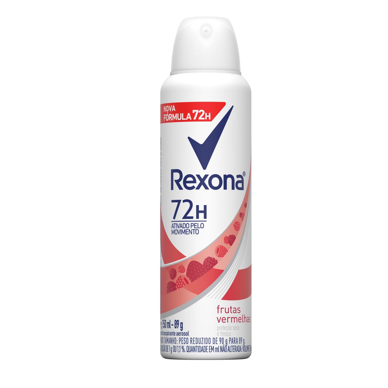 Desodorante Aerosol Rexona Frutas Vermelhas 72 horas 150mL