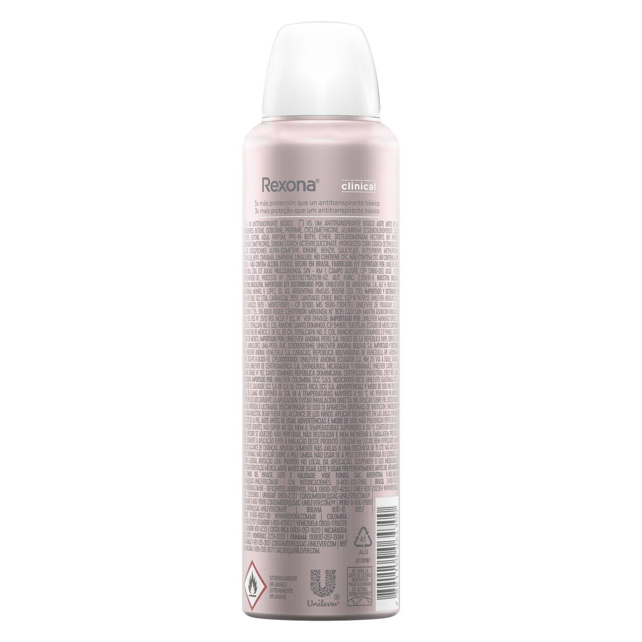 Desodorante Aerosol Rexona Clinical Feminino Extra Dry 91g