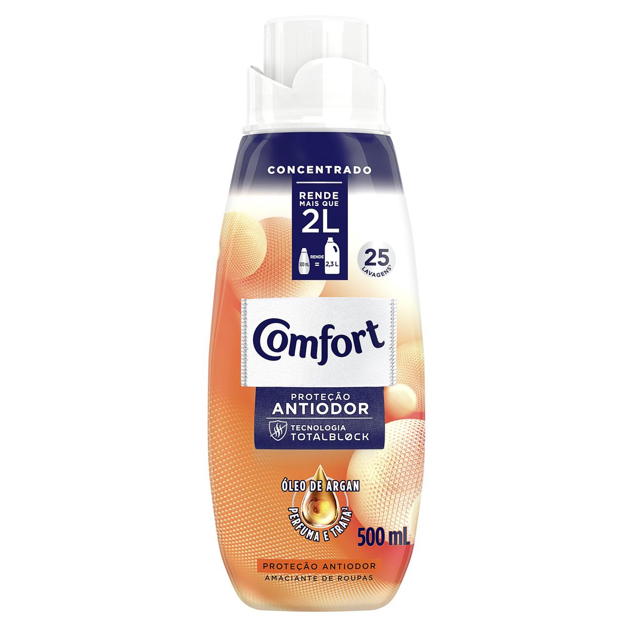 Amaciante Concentrado Comfort Proteção Antiodor 500ml