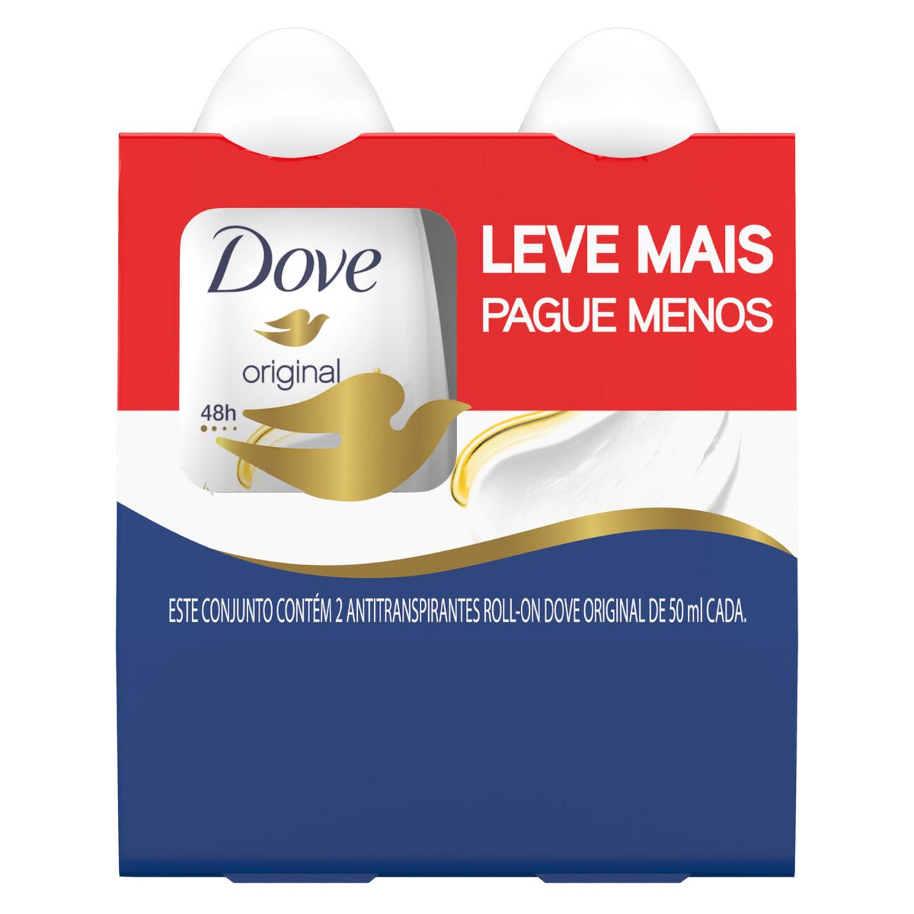 Desodorante Roll-On Dove Original 2 x 50mL