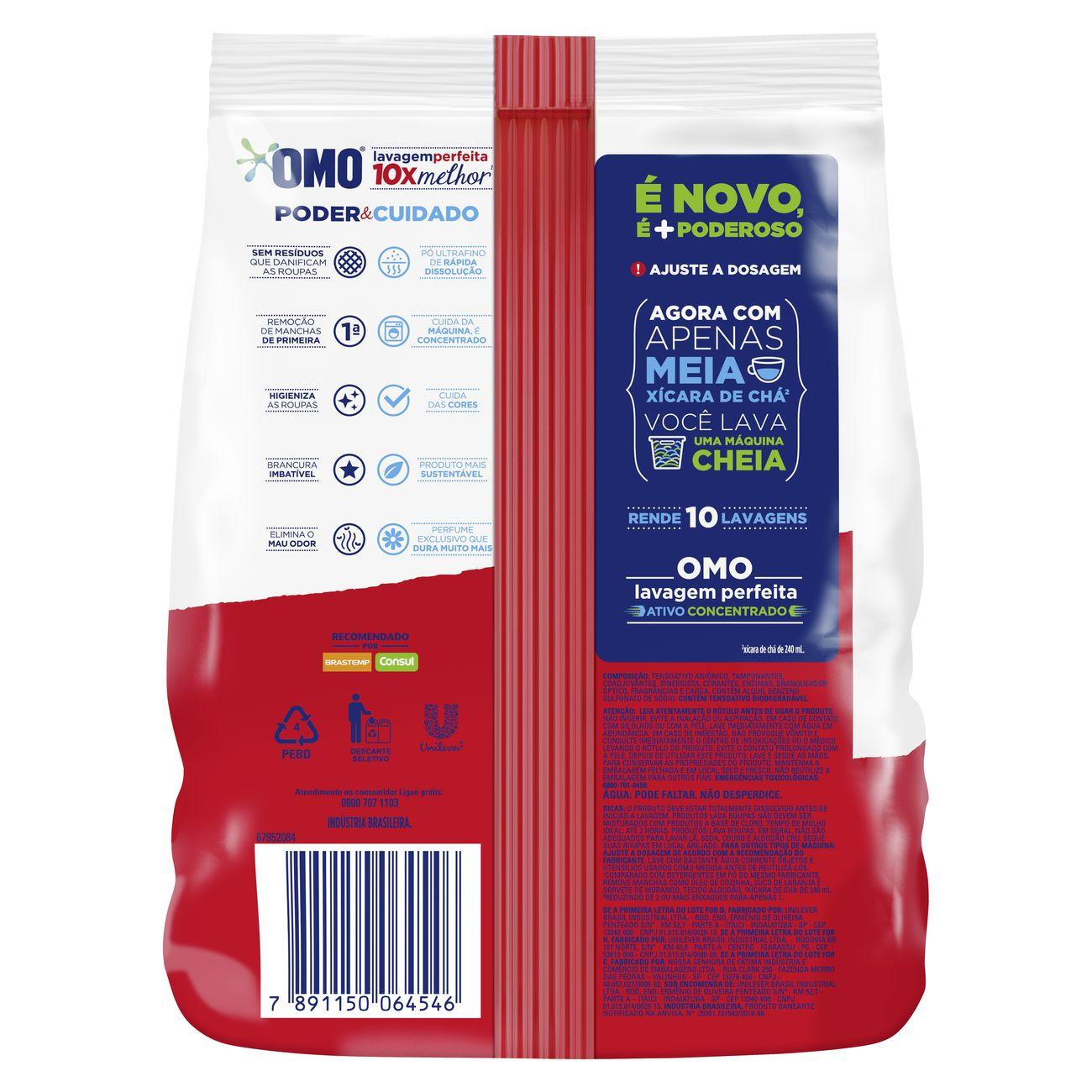 Oferta Detergente Em Pó Omo Lavagem Perfeita Pague 700g Leve 800g