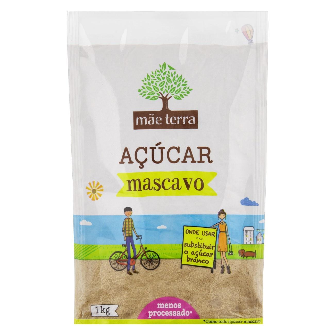 Açúcar Mascavo Mãe Terra Pacote 1kg