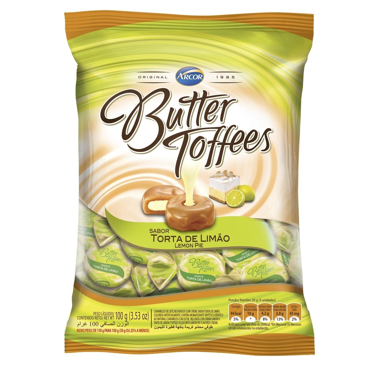 Bala Butter Toffes Torta de Limão 100g (16 un/cada)