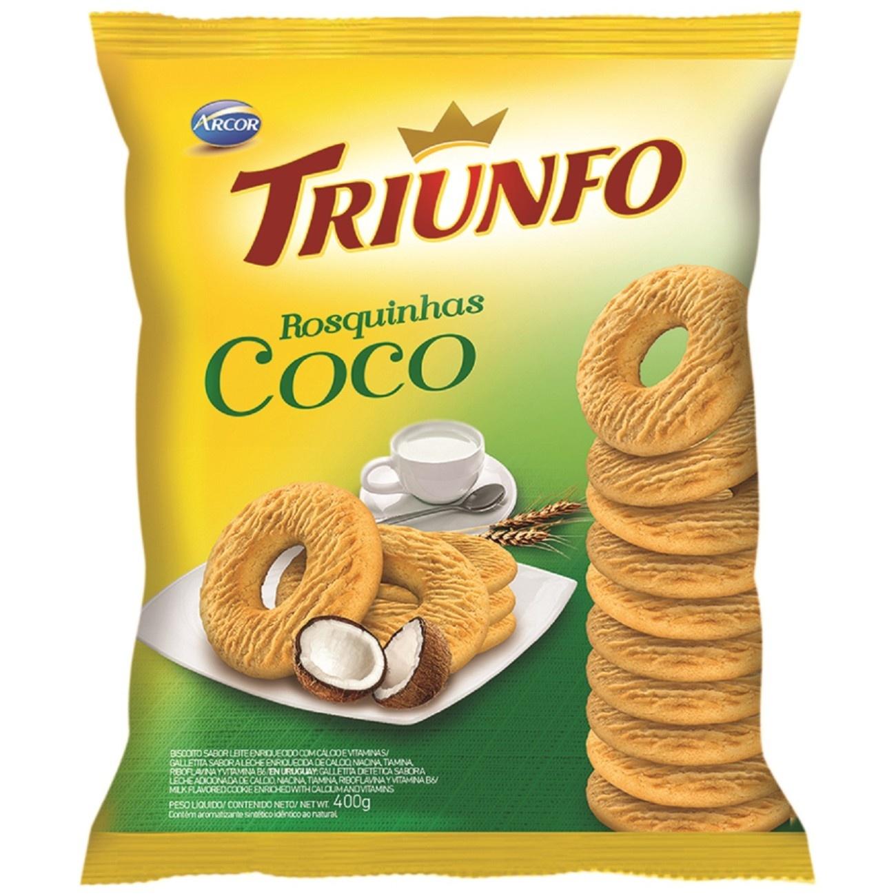 Biscoito Triunfo Rosquinha de Coco 400g