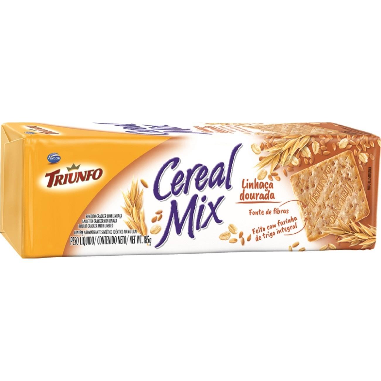 Biscoito Triunfo Cereal Mix Linhaça 185g
