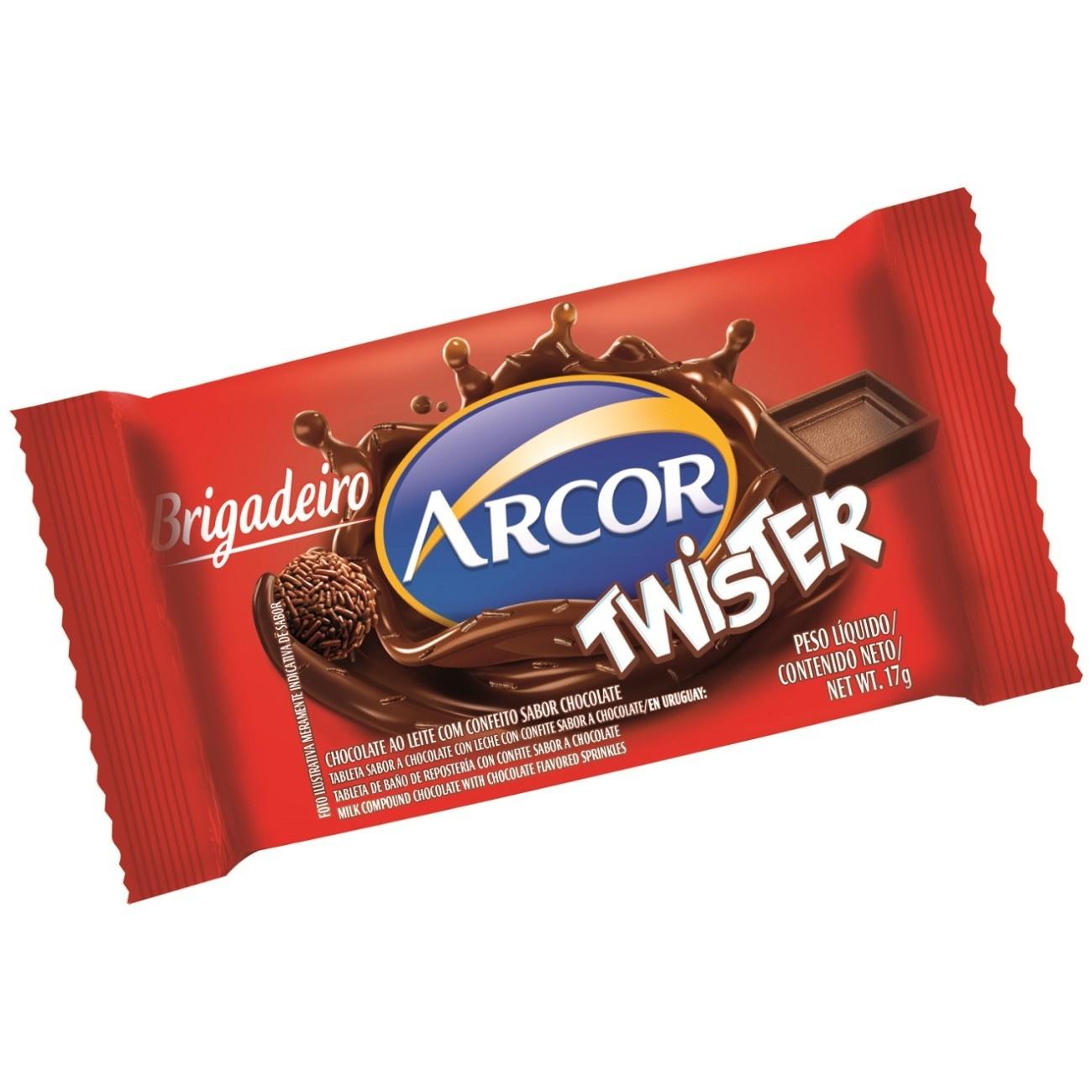 Display de Tablete de Chocolate Twister Brigadeiro 17g (24 un/cada)