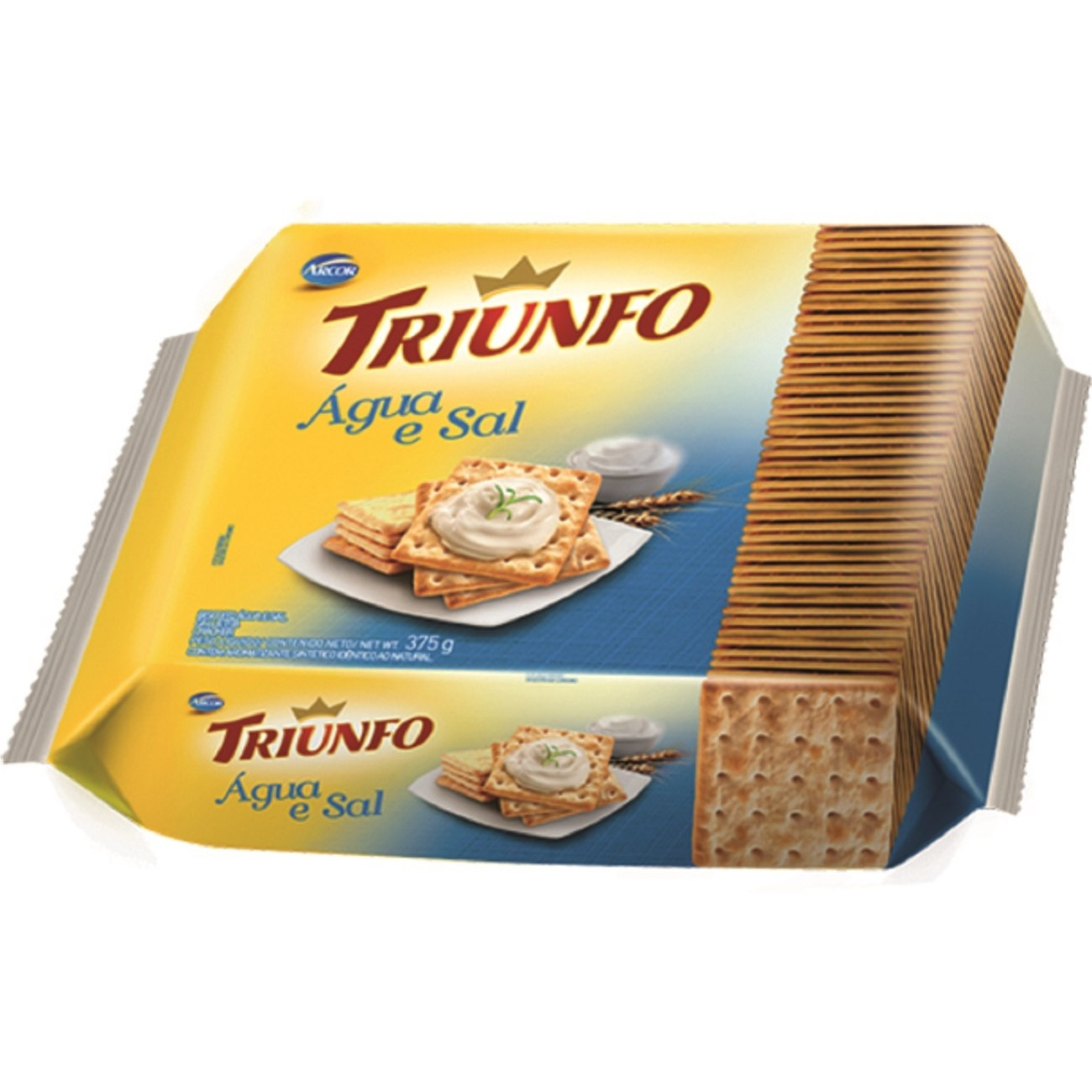 Biscoito Triunfo Água e Sal 375g Multipack