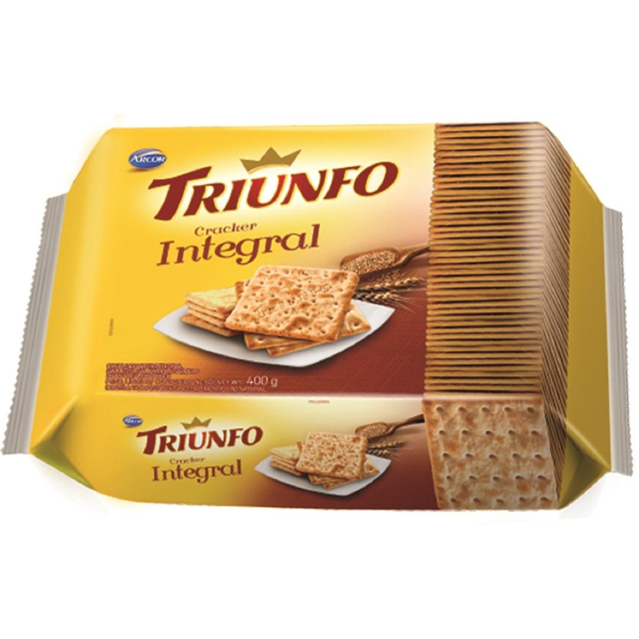 Biscoito Triunfo Cracker Integral 400g Multipack