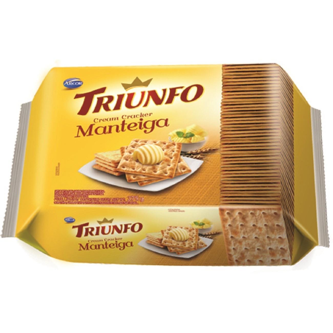 Biscoito Triunfo Cream Cracker Manteiga 375g Multipack