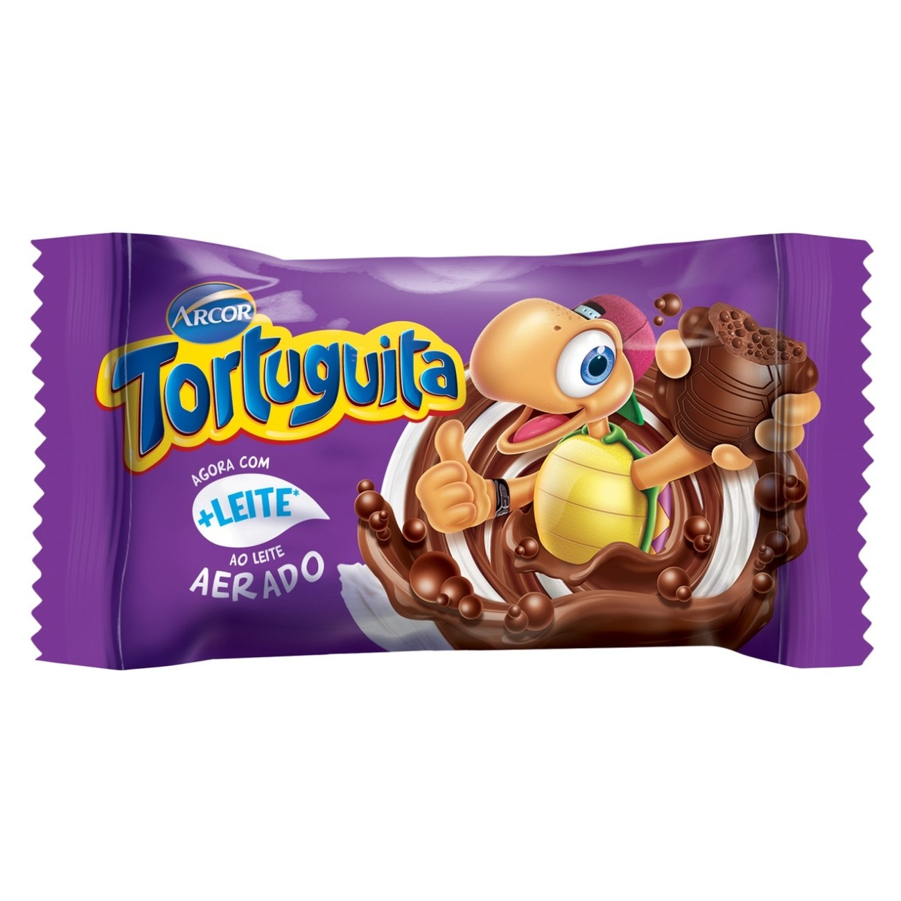 Display de Chocolate Tortuguita Aerada ao Leite 14g (24 UN/CADA)