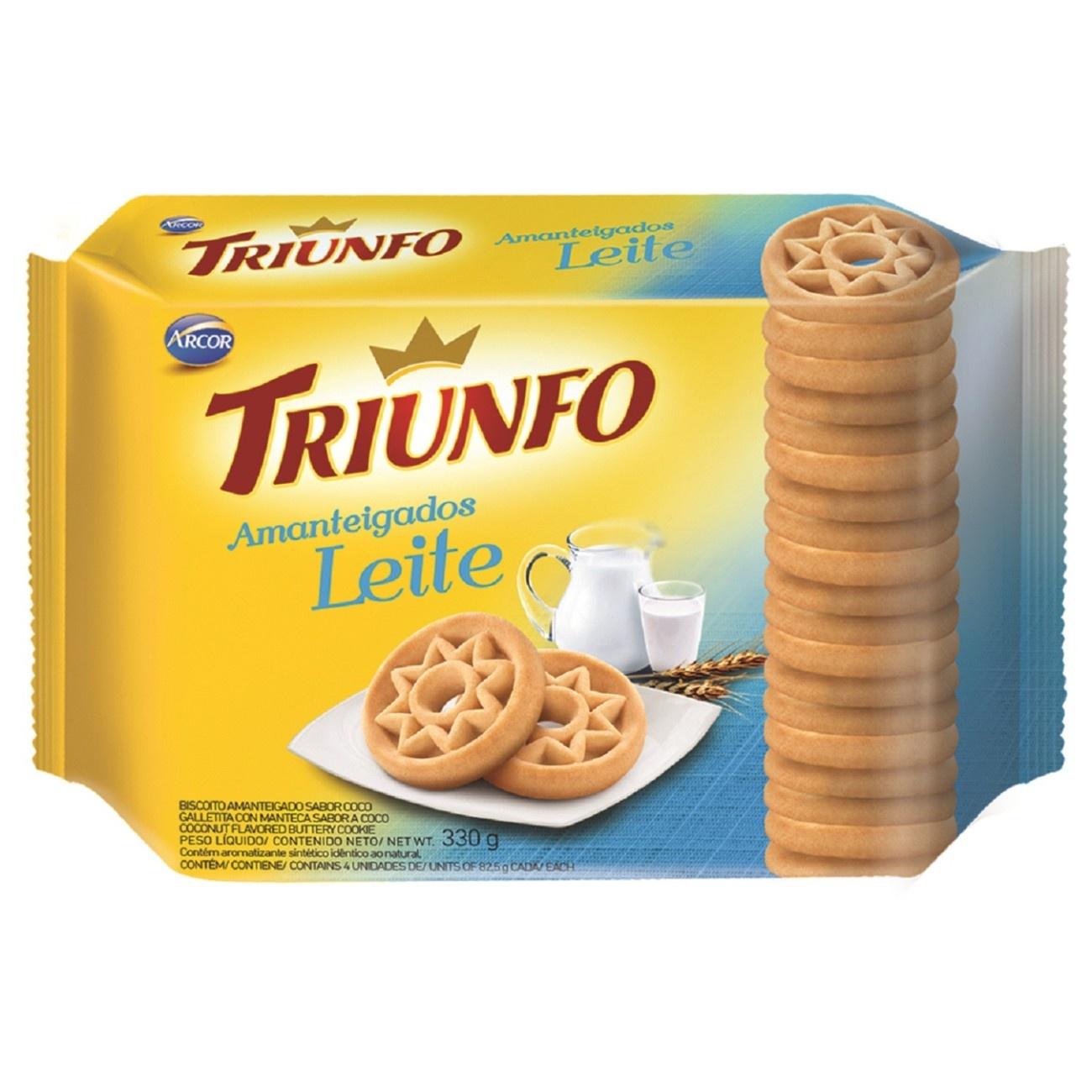 Biscoito Triunfo Amanteigado Leite 330g Multipack