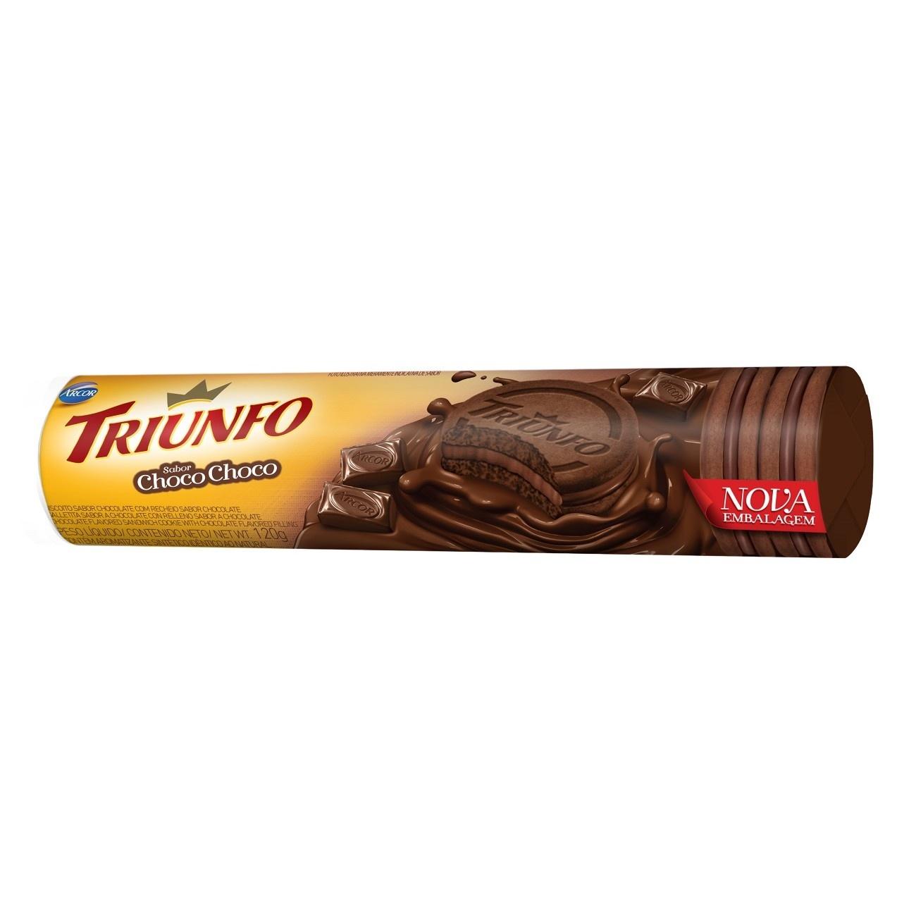 Biscoito Triunfo Recheado Chocolate 120g