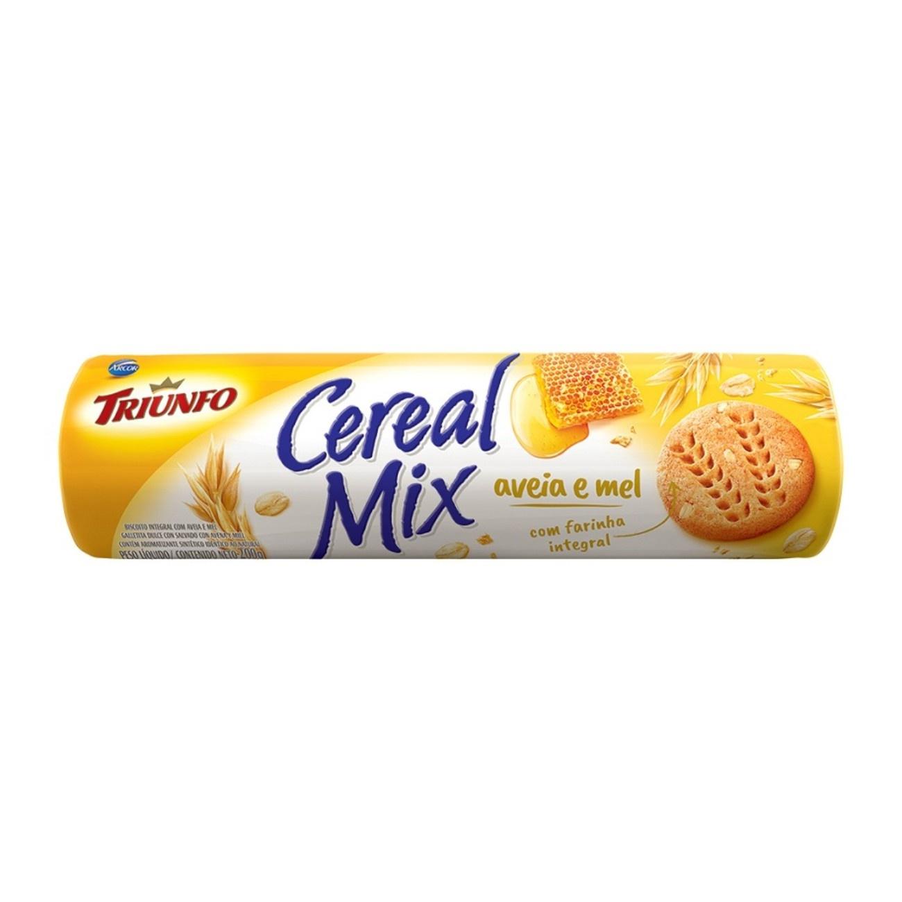Biscoito Triunfo Cereal Mix Aveia e Mel 200g
