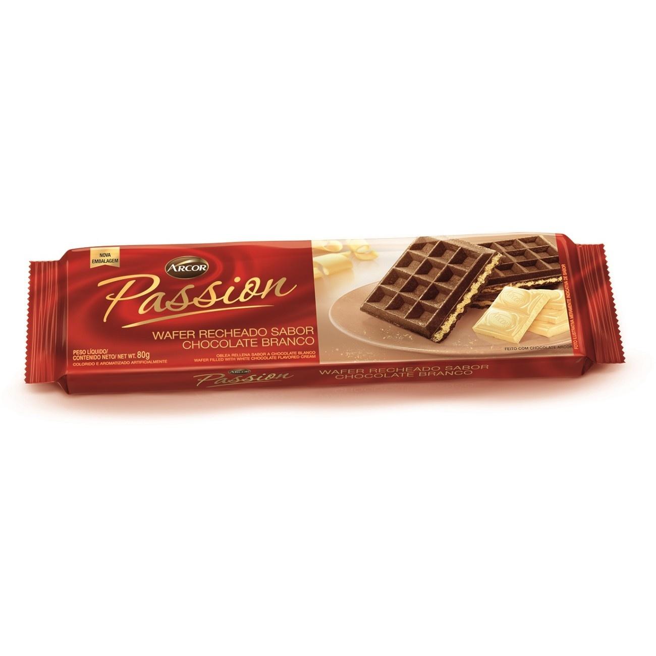 Biscoito Arcor Passion Chocolate Branco 80g