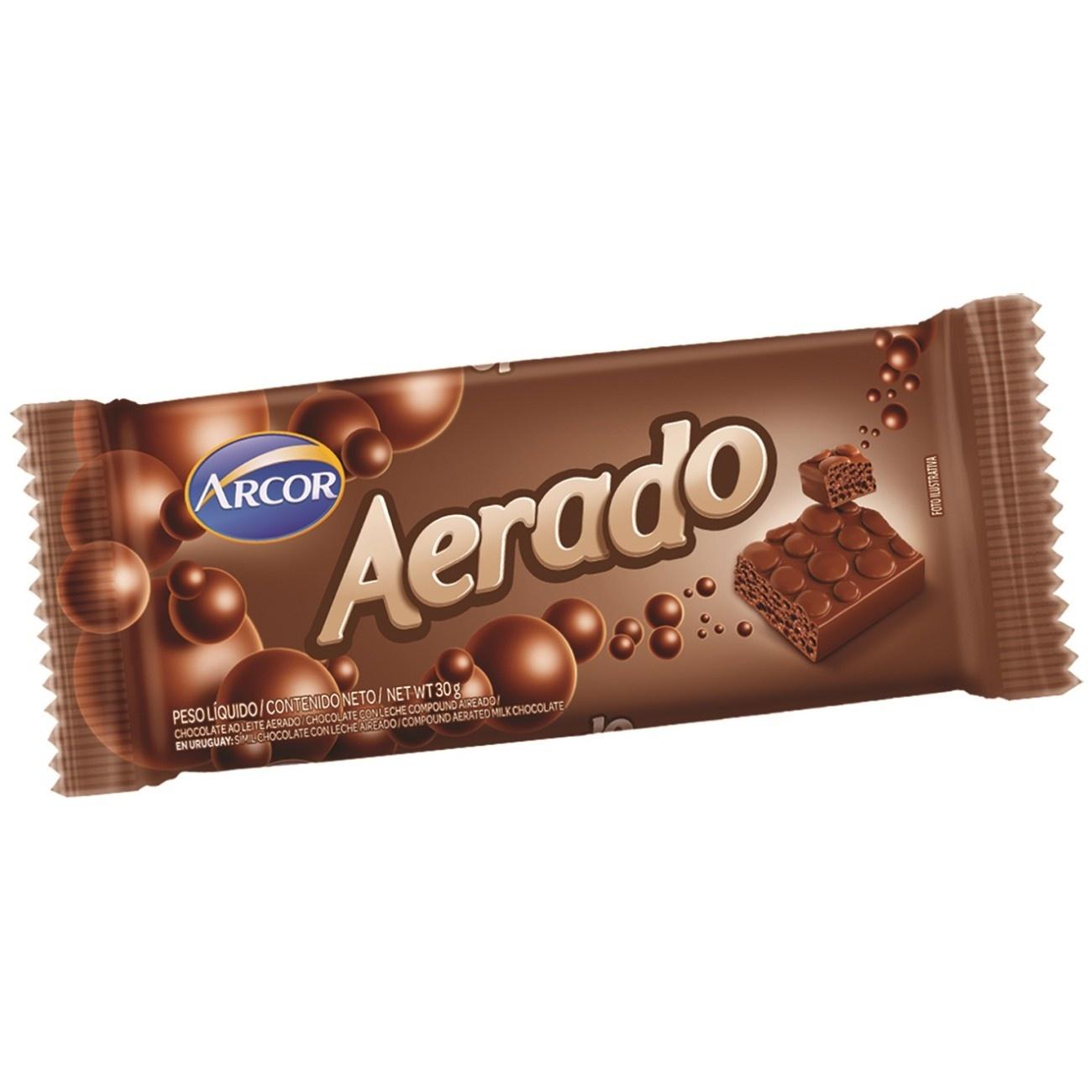Display de Tablete de Chocolate Aerado ao Leite 30g (15 un/cada)