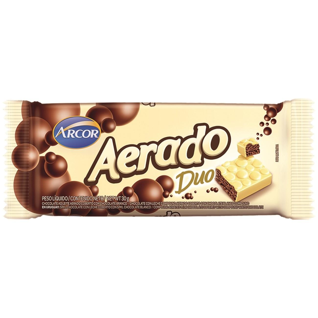Display de Tablete de Chocolate Aerado Duo 30g (15 un/cada)