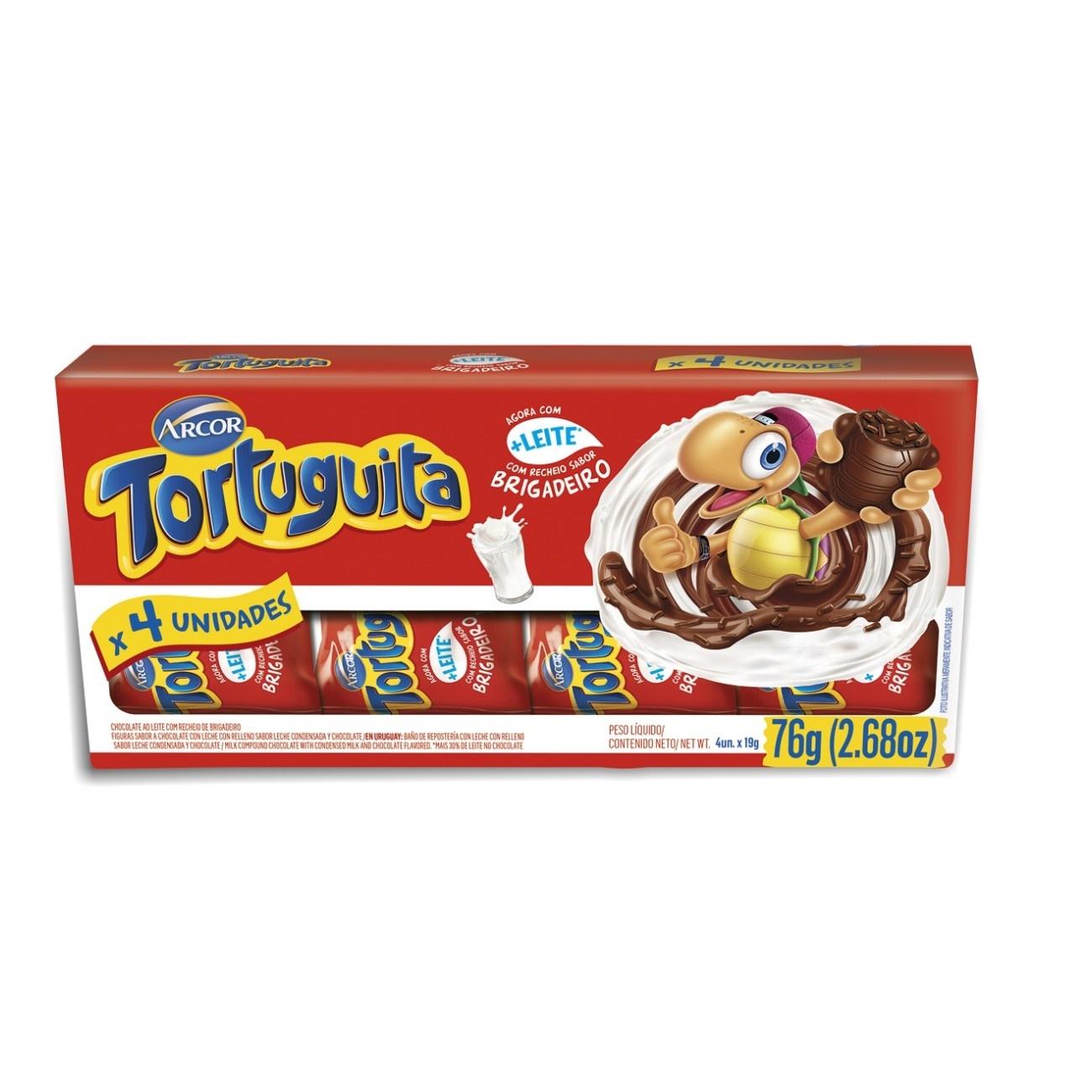 Display de Chocolate Tortuguita Brigadeiro 19g (4 UN/CADA)