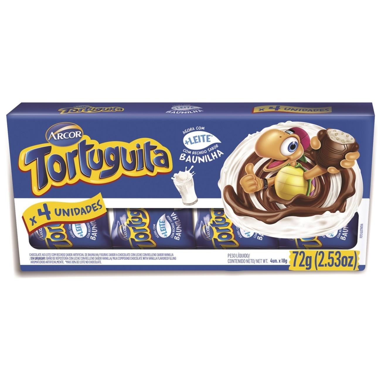 Display de Chocolate Tortuguita ao Leite 18g (4 UN/CADA)