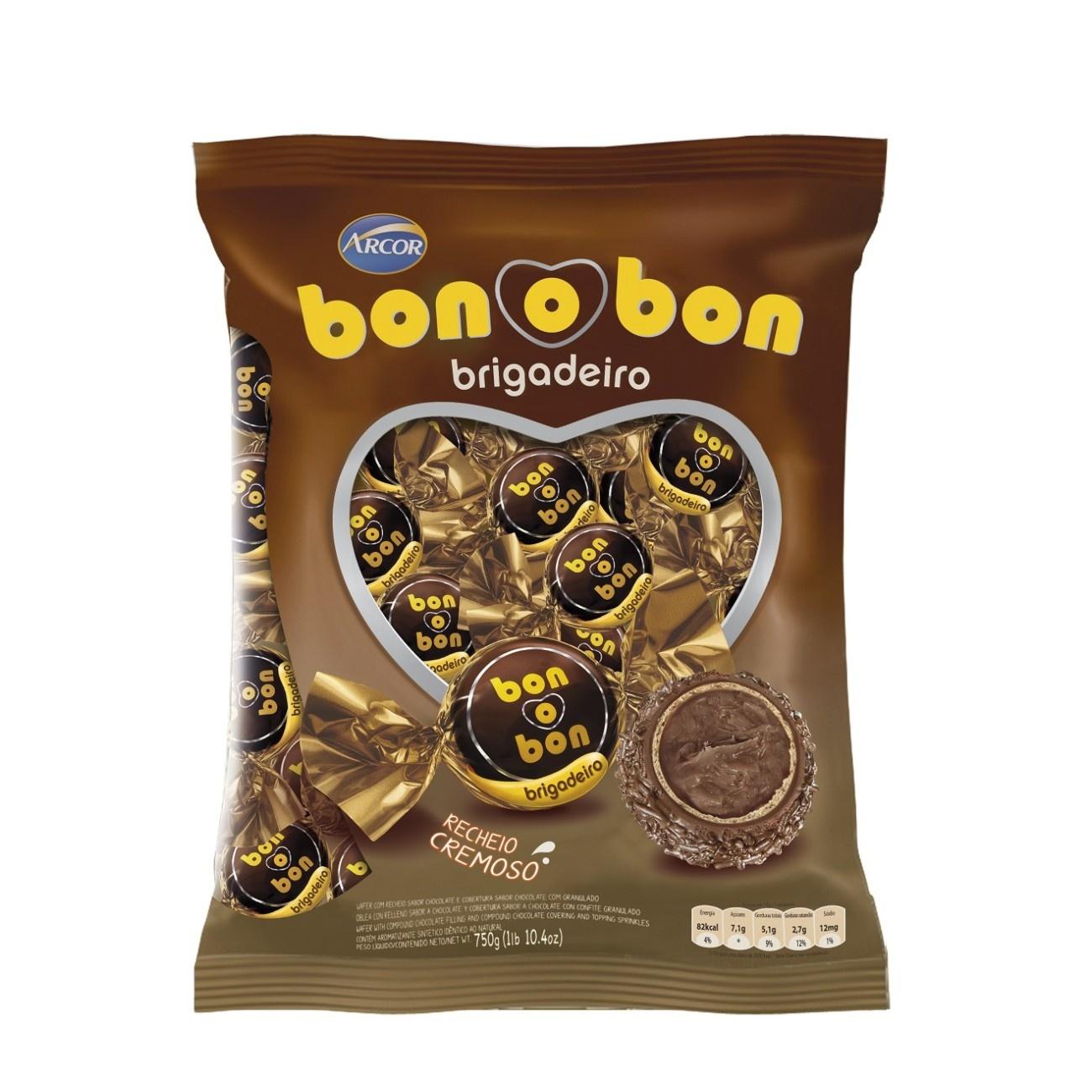 Bolsa de Bombom de Chocolate Bonobon Brigadeiro 15g (50 un/cada)