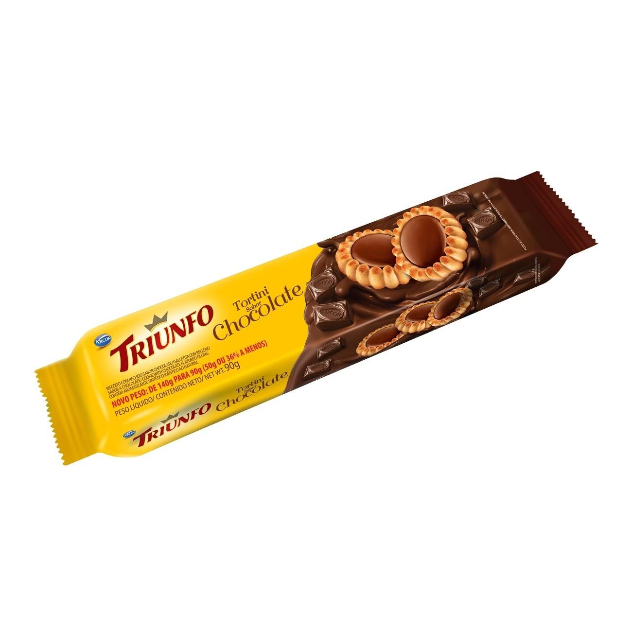 Biscoito Triunfo Tortinha Tortini Chocolate 90g