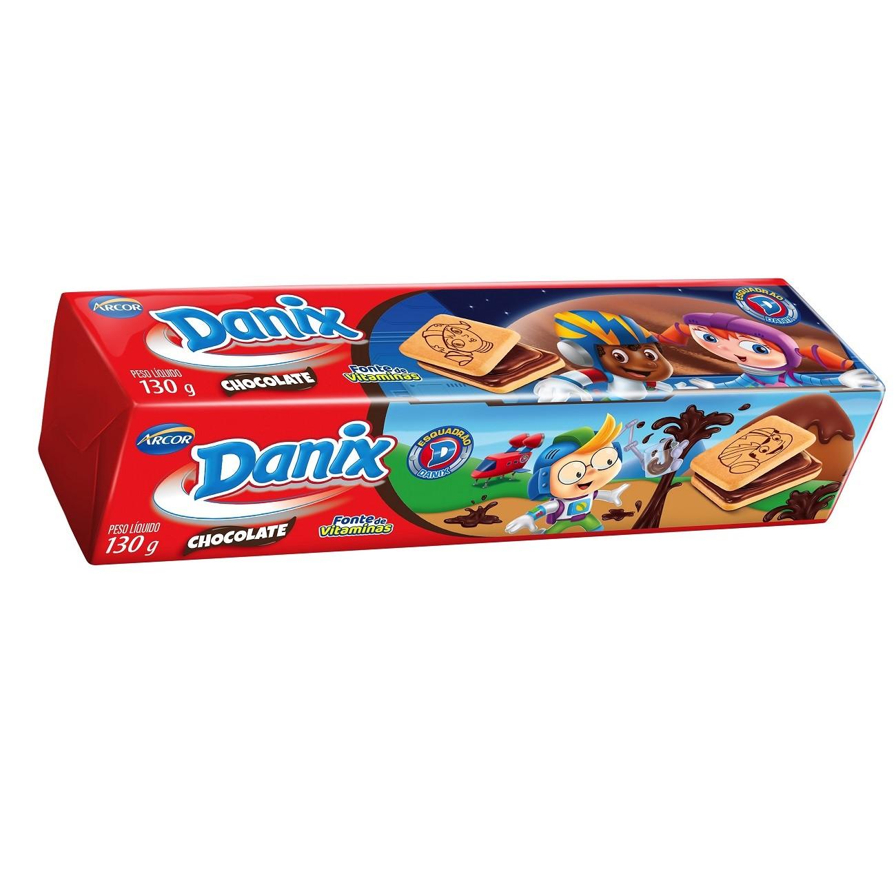 Biscoito Danix Recheado Chocolate Patrulha Canina 130g