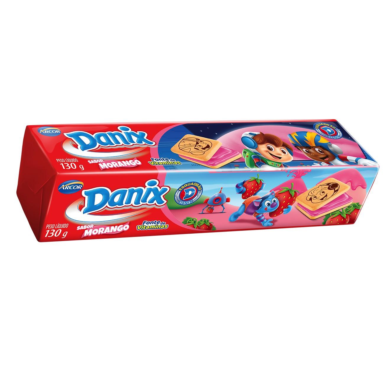 Biscoito Danix Recheado Morango Patrulha Canina 130g