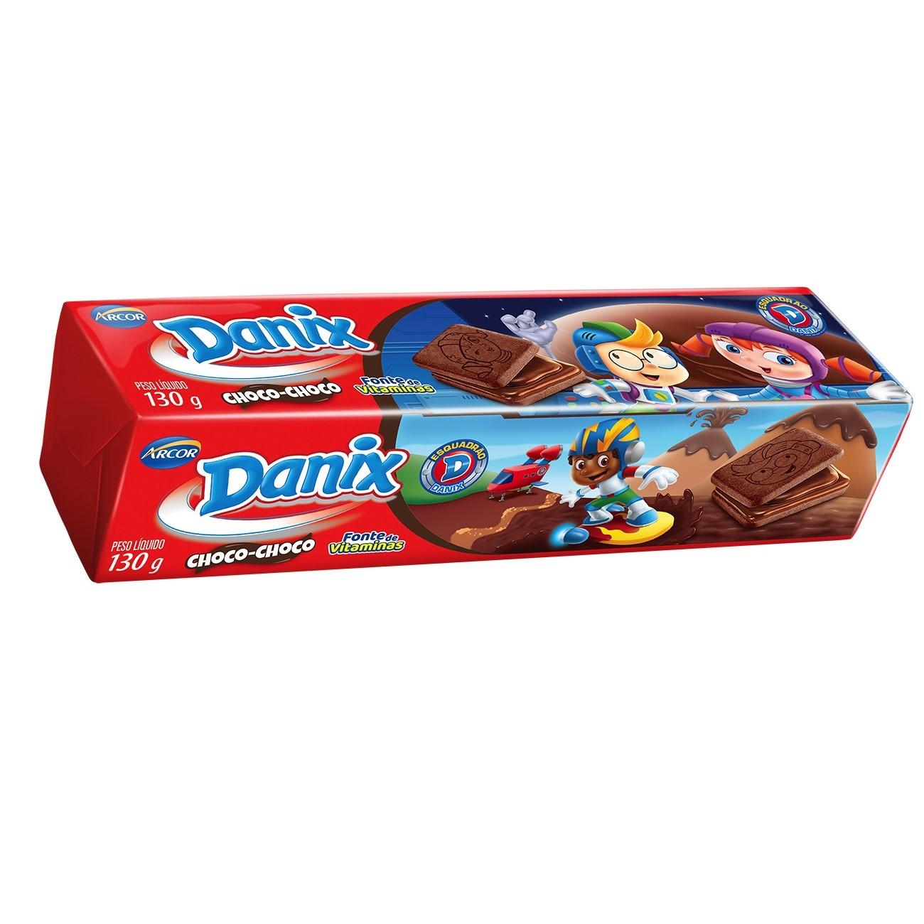 Biscoito Danix Recheado Choco Choco Patrulha Canina 130g