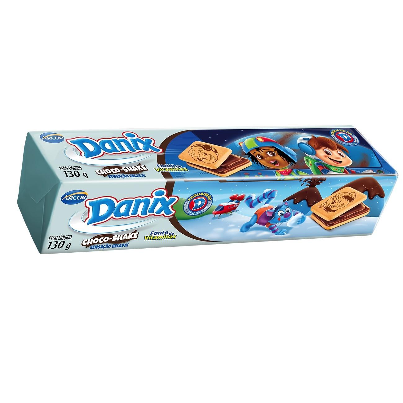 Biscoito Danix Recheado Choco Shake Patrulha Canina 130g