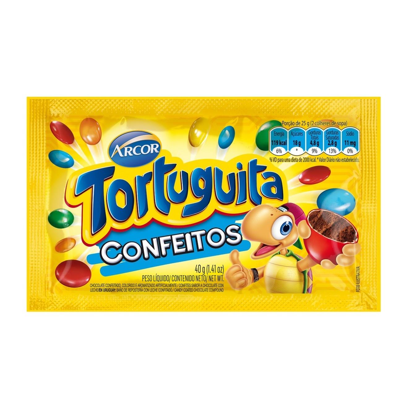 Display de Chocolate Confeitado Tortuguita Confeito 40g (12 un/cada)