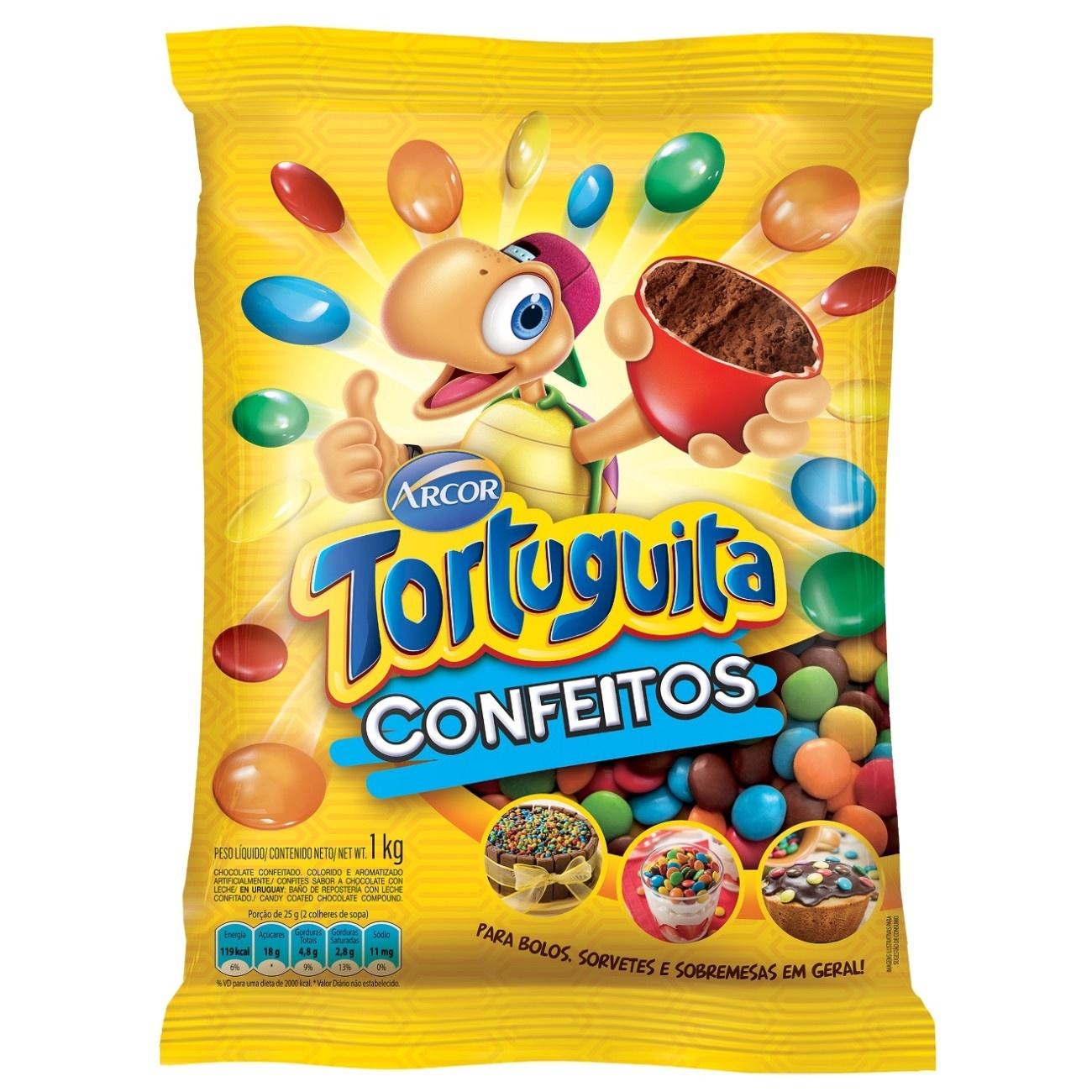 Bolsa de Chocolate Confeitado Tortuguita Confeito 1Kg