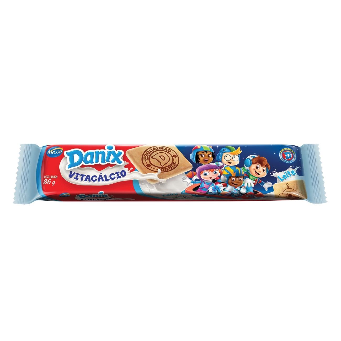 Biscoito de Leite Danix Leite Patrulha Canina 86g
