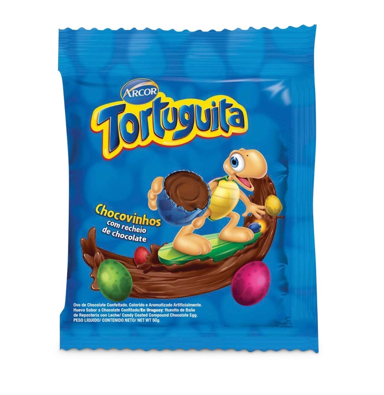 Display de Chocolate Confeitado Tortuguita Chocovinhos 50g (10 un/cada)