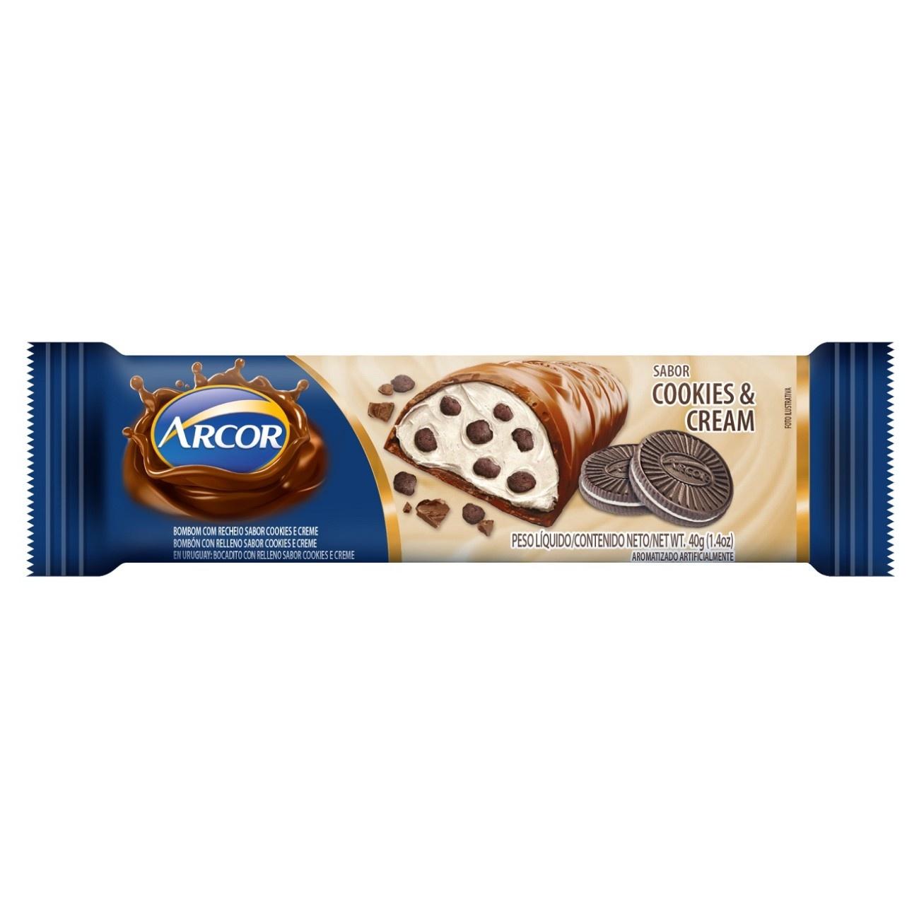 Display de Tablete de Chocolate Recheado Cookies & Cream 40g ( 12 un/cada)
