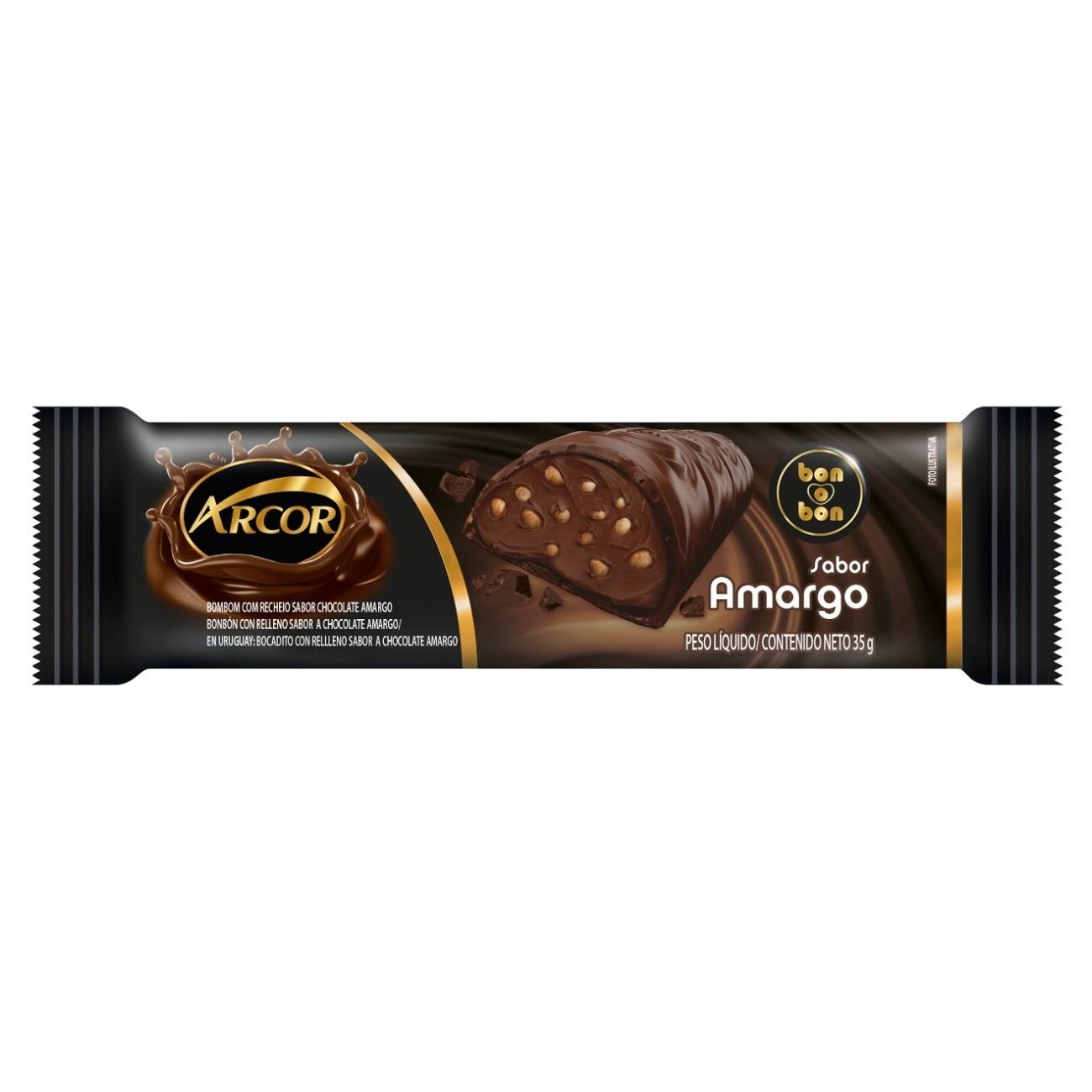 Display de Tablete de Chocolate Recheado Amargo 40g ( 12 un/cada)