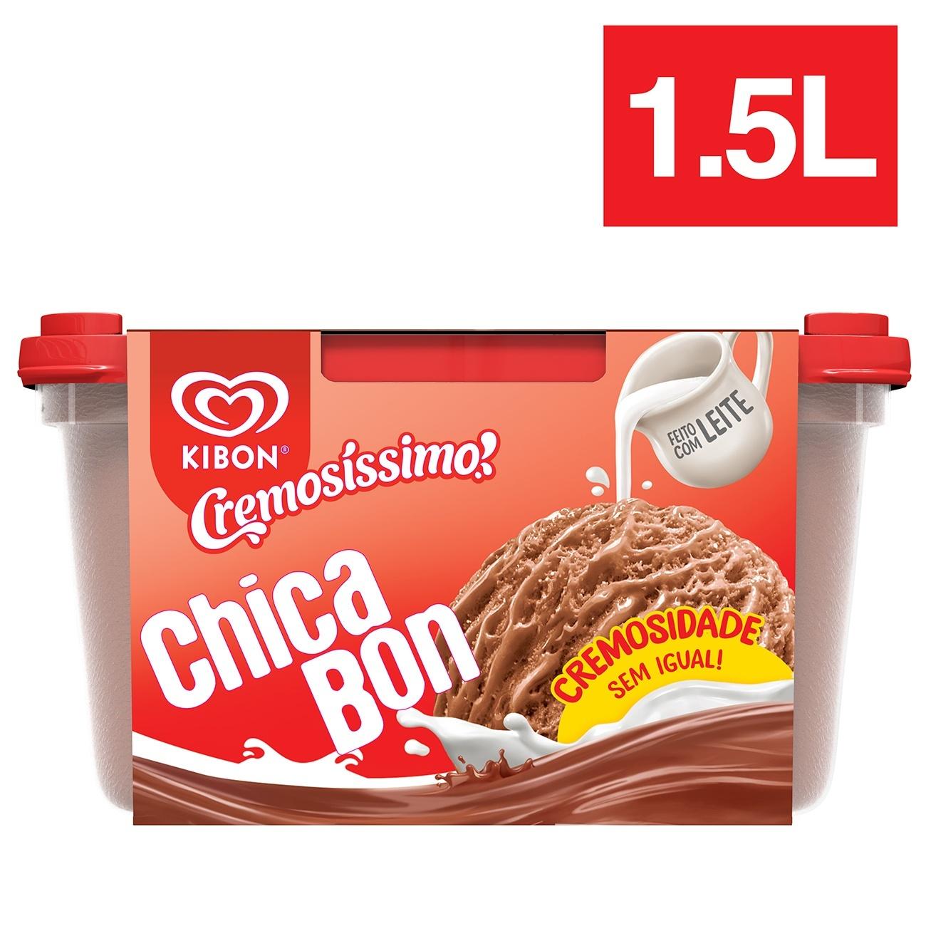 Sorvete Pote Kibon Cremosíssimo Chicabon 1,5L
