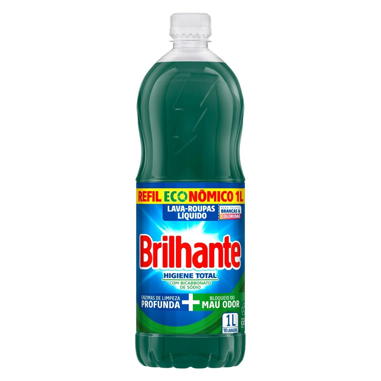 Lava Roupas Líquido Brilhante Higiene Total 1L