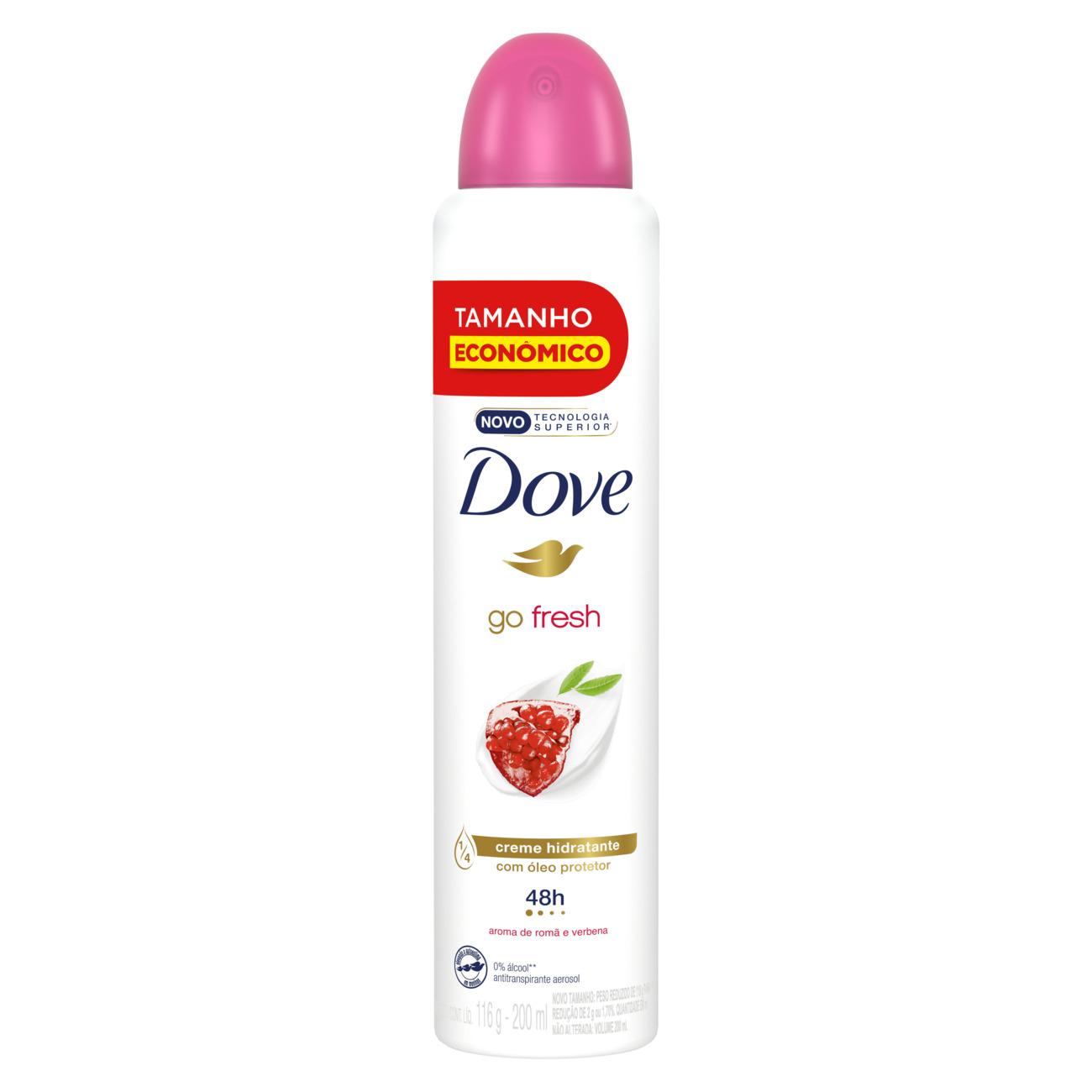 Desodorante Aerosol Antitranspirante Dove Go Fresh Romã 200mL