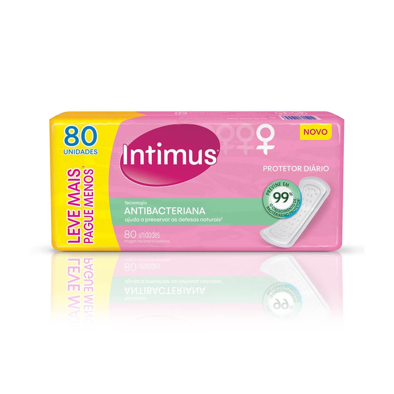Protetor Diário Intimus Antibacteriana 80un