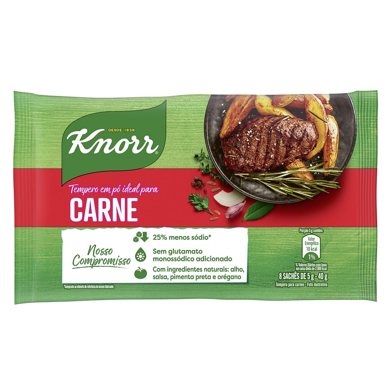 Tempero em Pó Knorr Ideal para Carne 40g