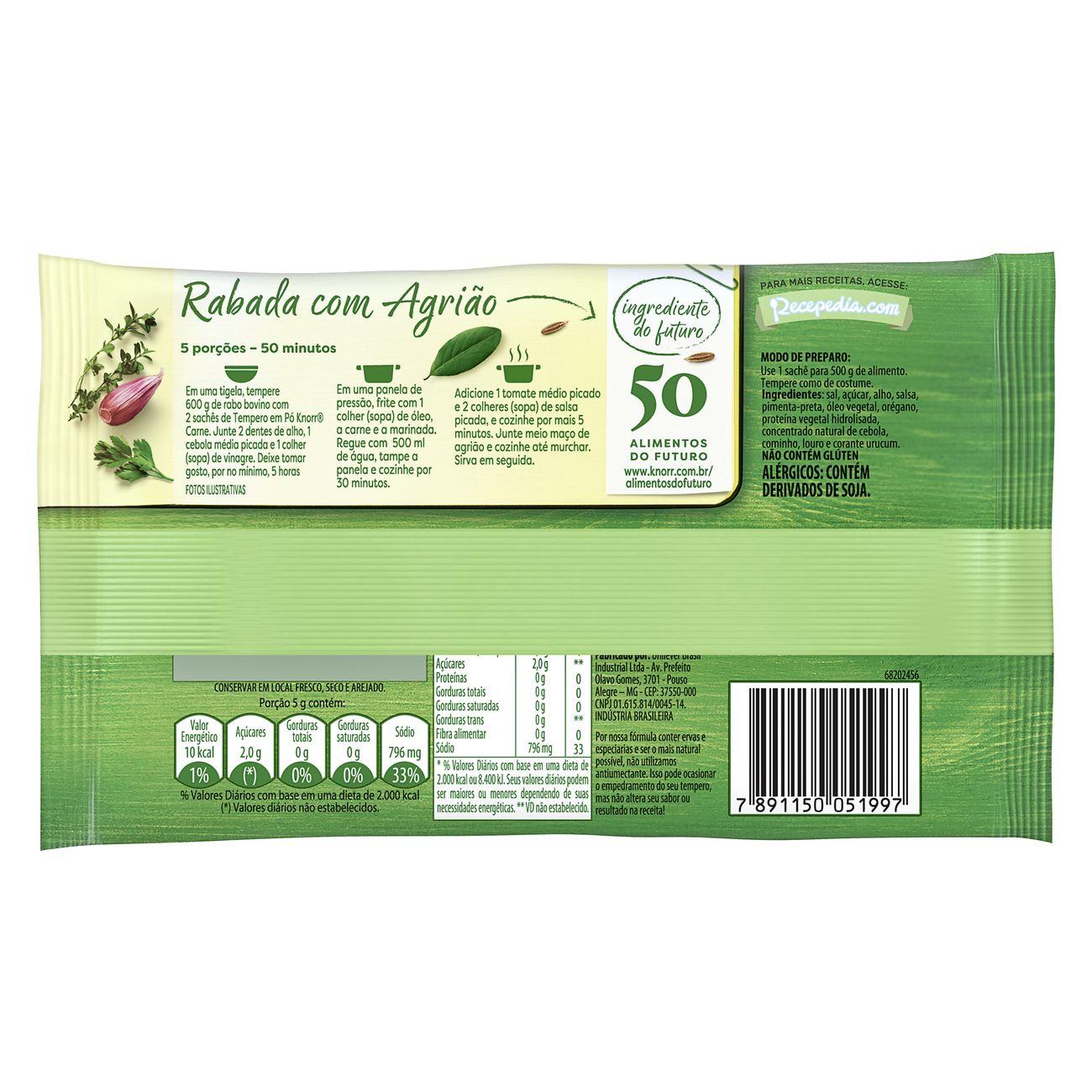 Tempero em P� Knorr Ideal para Carne 40g