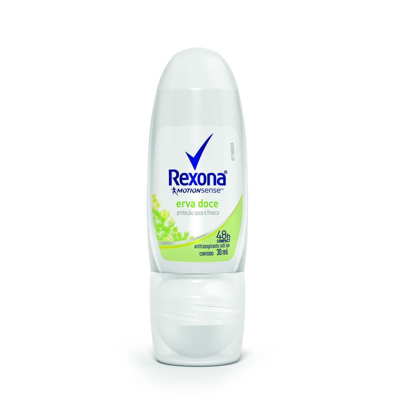 Desodorante Antitranspirante Rexona Feminino Rollon Erva Doce 30ml